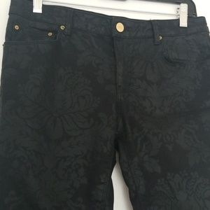 Zara premium denim black print
